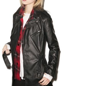 Tripp NYC Goth Punk Rock Vegan Leather Jacket